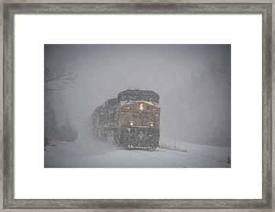 February 16. 2015 - Csx Q597 Framed Print by Jim Pearson