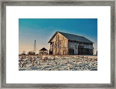 February Barn Framed Print by Mark Orr