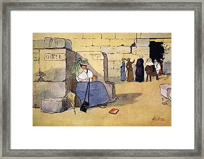 Fed Up!, From The Light Side Of Egypt Framed Print by Lance Thackeray