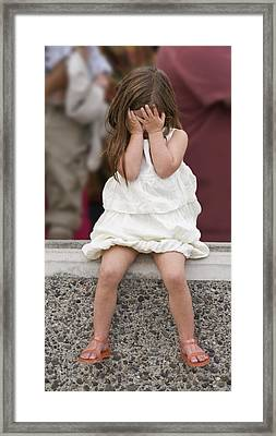 Fed Up With The Presidential Visit Framed Print by Scott Lenhart