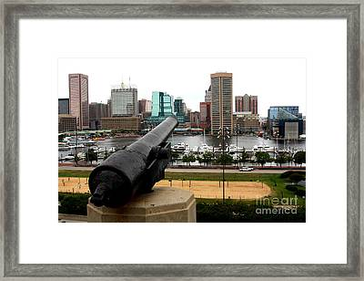 Federal Hill Cannon Framed Print by Patti Whitten