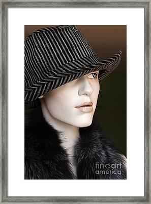 Fedora And Fur Framed Print by Sophie Vigneault