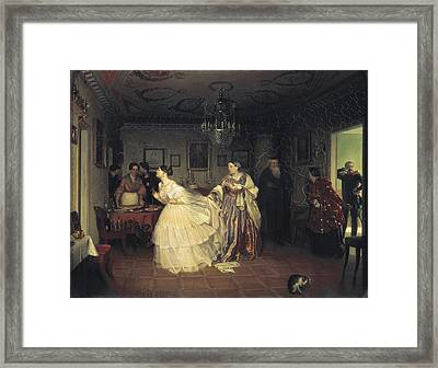 Marriage Proposal Framed Print featuring the photograph Fedotov, Pavel Andreevich 1815-1852 by Everett