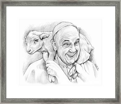 Feed My Sheep Framed Print by Greg Joens
