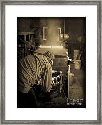 Feeding The Beast Framed Print by Edward Fielding