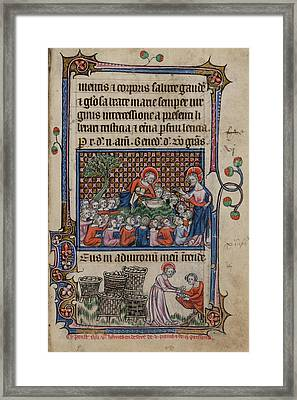 Feeding The Five Thousand Framed Print by British Library