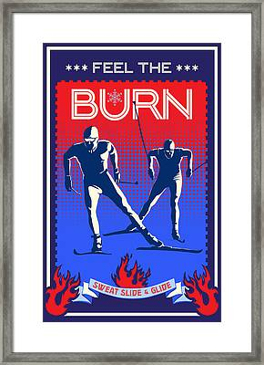 Feel The Burn Xski Framed Print by Sassan Filsoof