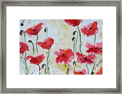 Feel The Summer 1 - Poppies Framed Print by Ismeta Gruenwald