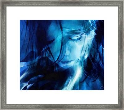 Feeling A Little Blue Framed Print by Gun Legler