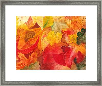Feeling Fall Framed Print by Irina Sztukowski