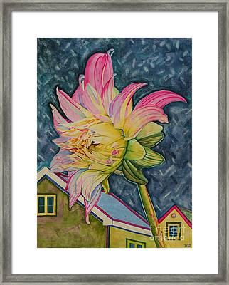 Feeling Good In The Moonglow Framed Print by Christine Belt
