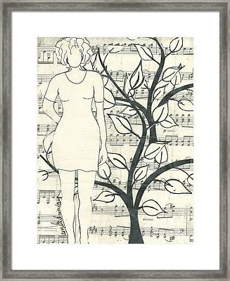 Feeling One With Nature Framed Print by Angela L Walker