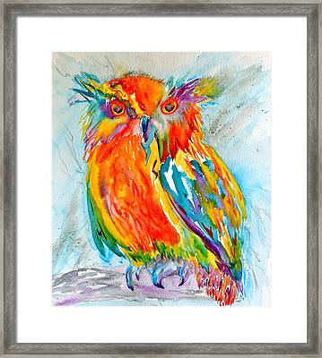 Feeling Owlright Framed Print by Beverley Harper Tinsley