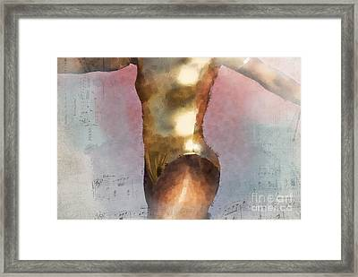 Feeling The Beat Framed Print by Betty LaRue