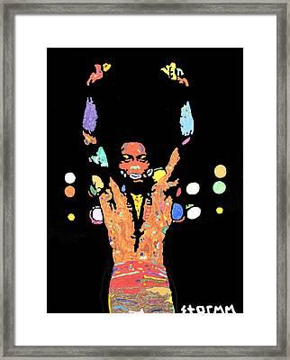 Fela Kuti Framed Print by Stormm Bradshaw