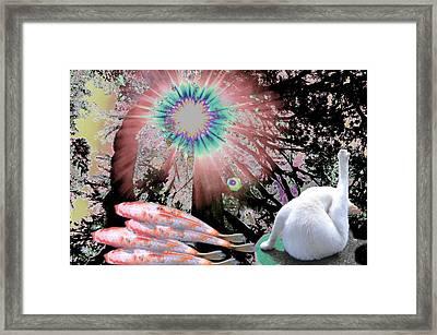 Feline Utopia Framed Print by Laureen Murtha Menzl
