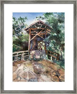 Felton Covered Bridge Framed Print by Susan Cafarelli Burke