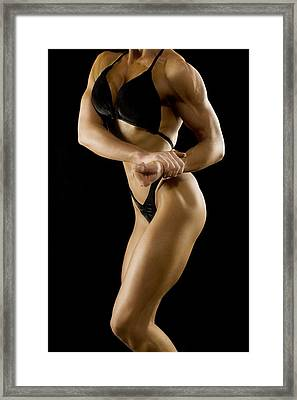 Female Bodybuilder Framed Print by Darren Greenwood