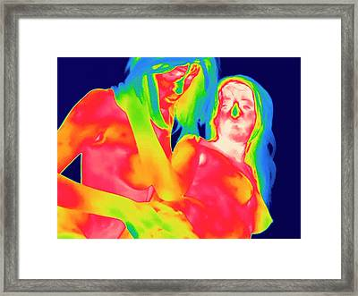 Female Couple Making Love Framed Print by Thierry Berrod, Mona Lisa Production