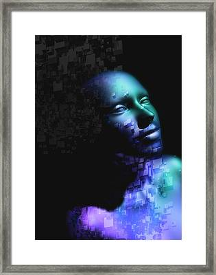 Female Cyborg Framed Print by Victor Habbick Visions