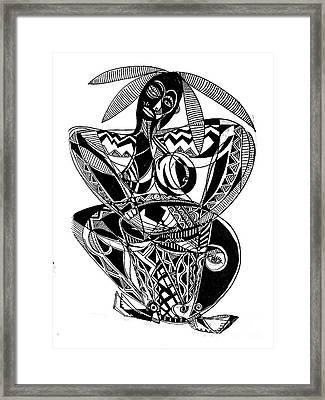 Female Drummer Framed Print by Robert Daniels