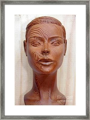 Female Head Bust - Front View Framed Print by Carlos Baez Barrueto