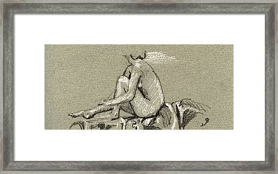 Female Nude Study Framed Print by Juan  Bosco