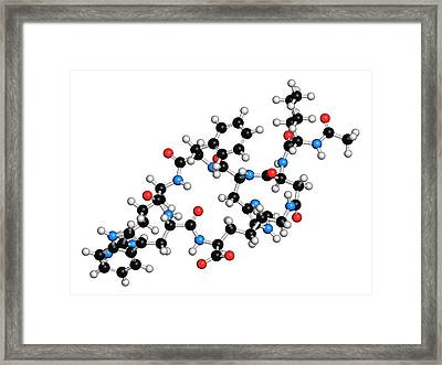 Female Sexual Dysfunction Drug Molecule Framed Print by Molekuul