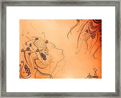 Feminine Breeze  Framed Print by Shraddha Tiwari