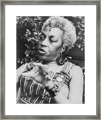 Feminist Florynce Kennedy Framed Print by Underwood Archives