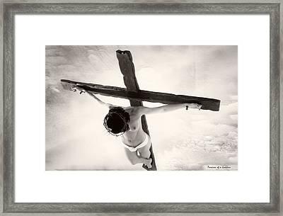 Femme En Croix I Framed Print by Ramon Martinez