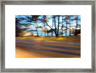Fence Framed Print by Daniel Furon