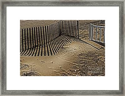Fence Line Framed Print by Tom Gari Gallery-Three-Photography
