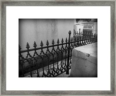 Fenced In Framed Print by Beth Vincent