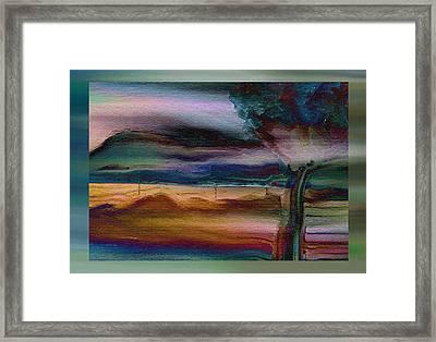 Fences In The Mist Framed Print by Lenore Senior