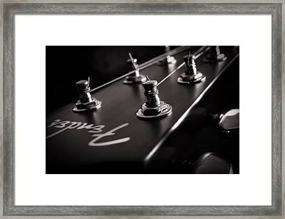 Fender Acoustic I Framed Print by Bob Orsillo