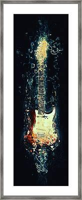 Fender Strat Framed Print by Taylan Apukovska