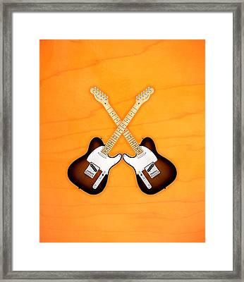 Fender Telecaster Sunburst Framed Print by Doron Mafdoos