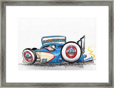 Fenderless Framed Print by Mike Royal