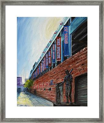 Fenway Boston Framed Print by Karen Strangfeld