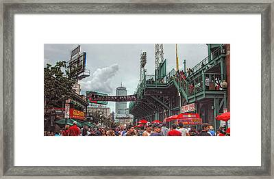 Fenway Bustle Framed Print by Joann Vitali