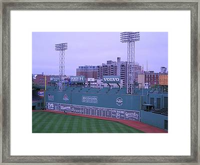 Fenway Left Field Framed Print by Brian Hoover