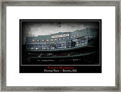 Fenway Memories - Poster 1 Framed Print by Stephen Stookey