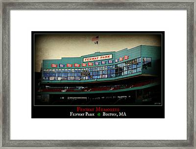 Fenway Memories - Poster 2 Framed Print by Stephen Stookey