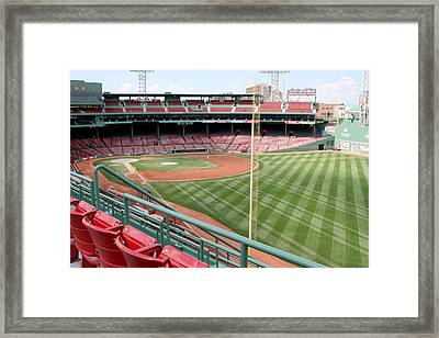 Fenway Park 1 Framed Print by Kathy Hutchins