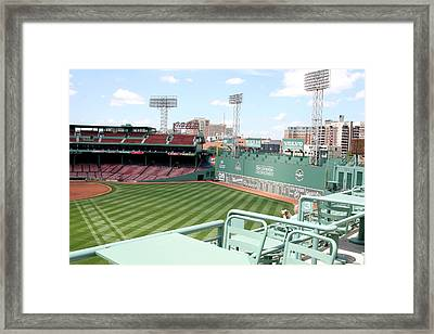 Fenway Park 10 Framed Print by Kathy Hutchins