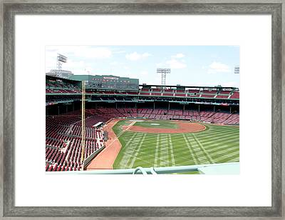 Fenway Park 2 Framed Print by Kathy Hutchins