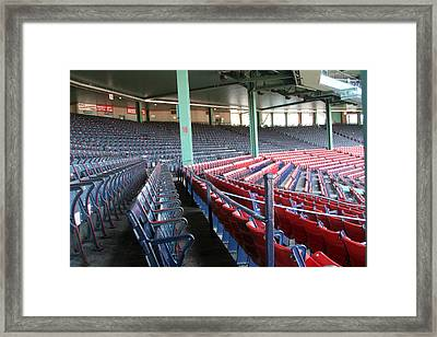 Fenway Park 3 Framed Print by Kathy Hutchins