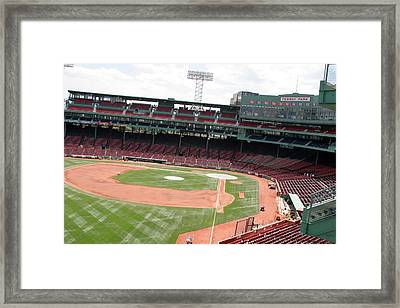 Fenway Park 4 Framed Print by Kathy Hutchins