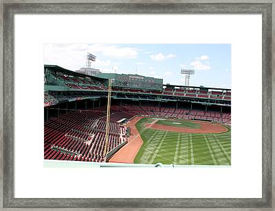 Fenway Park 6 Framed Print by Kathy Hutchins